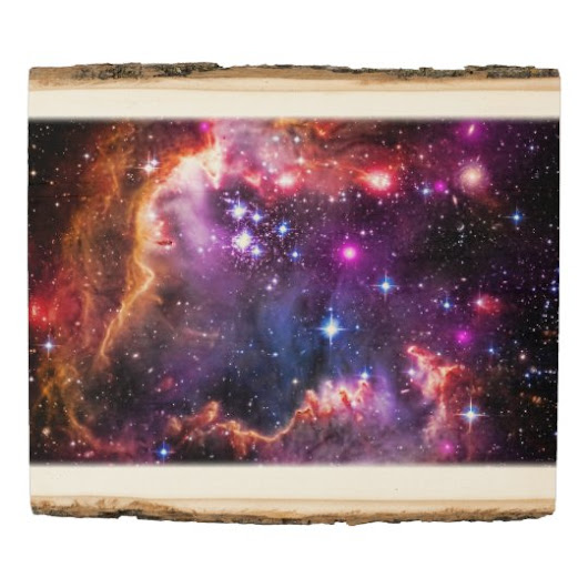 Starry Wingtip of Small Magellanic Cloud Wood Panel