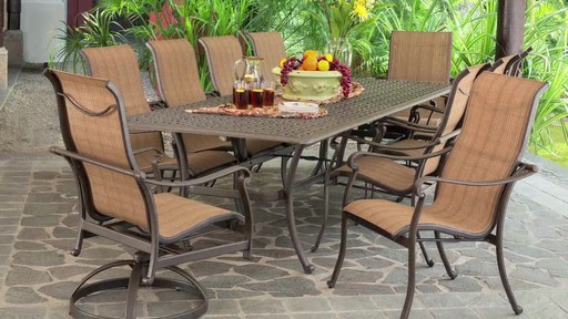 Saratoga 11-piece Sling Patio Dining Collection » Video ...