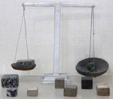 Ancient Harappan weight scales