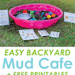 Backyard Mud Cafe: An Easy Outdoor Imaginative Play Idea for Kids - The Crafting Chicks
