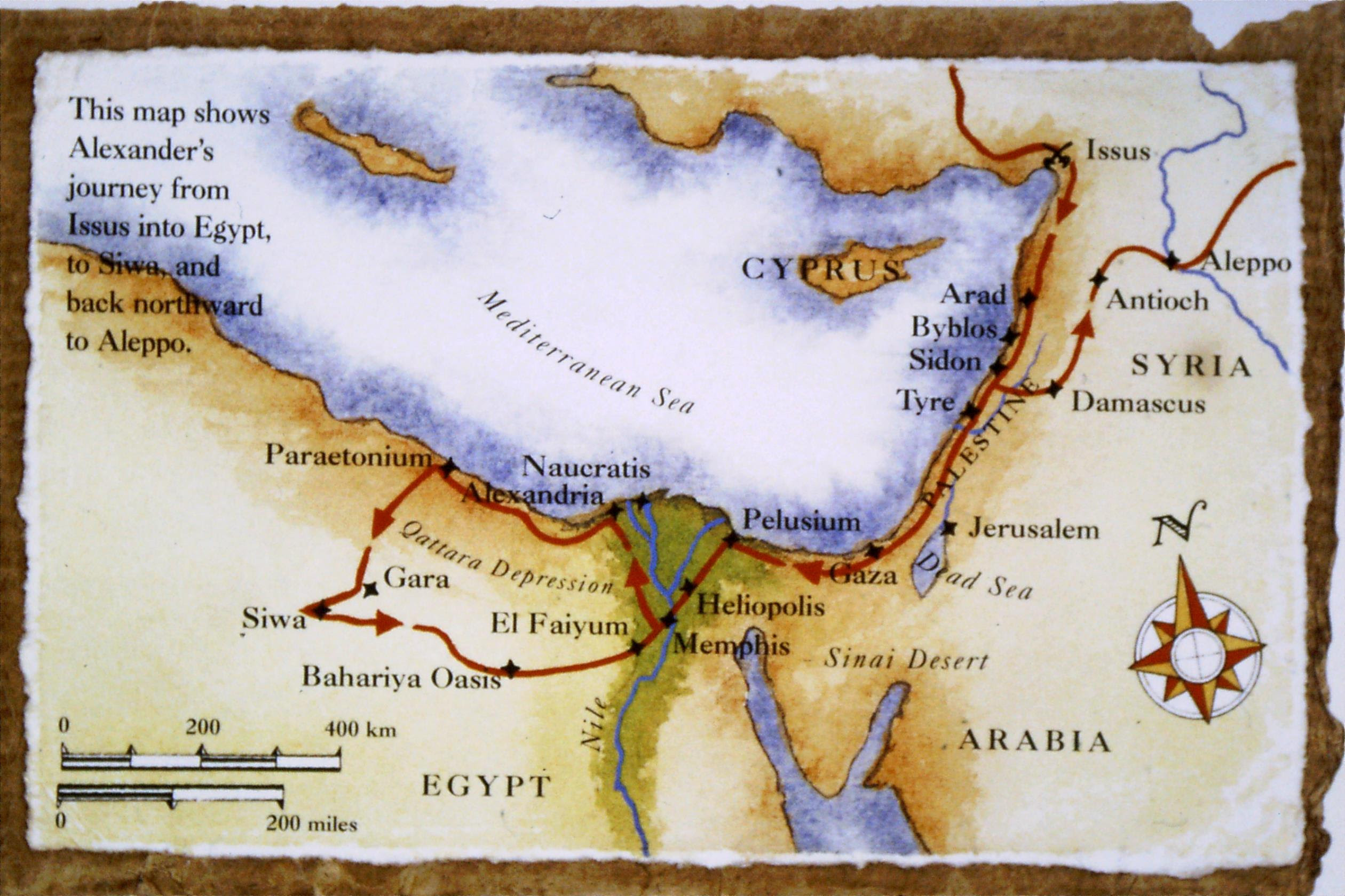 ALEXANDER'S JOURNEY FROM ISSUS TO SIWA
