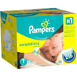 Pampers Swaddlers Size 1 Diapers 216 ct Box