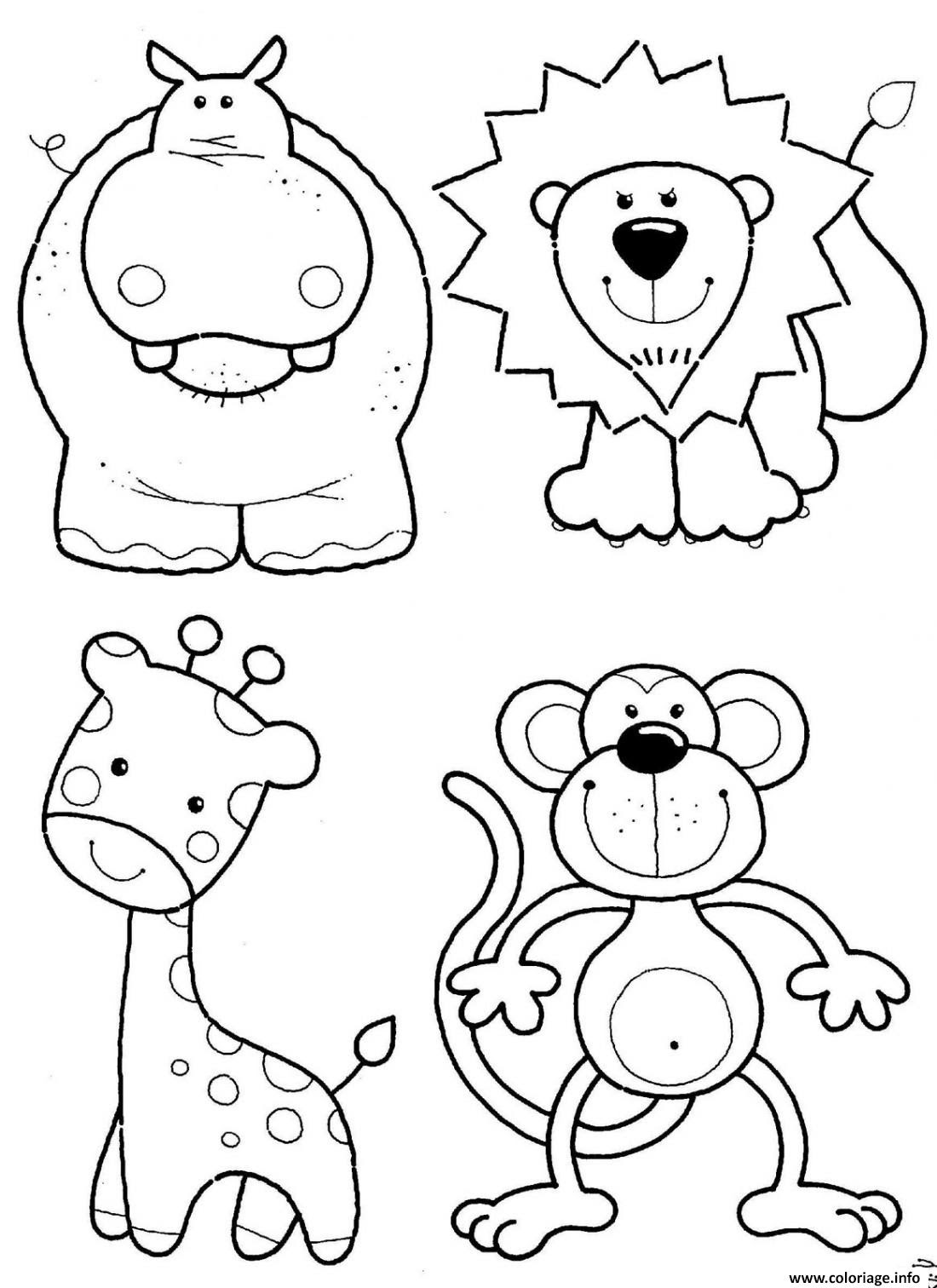 Dessin animals Tsum Tsum facile cute Coloriage Gratuit   Imprimer