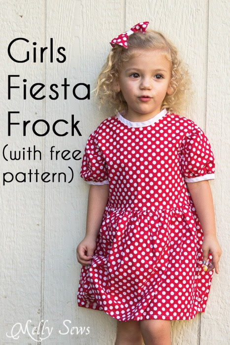 Free Girls Dress Pattern - Minnie Mouse Birthday - Melly Sews