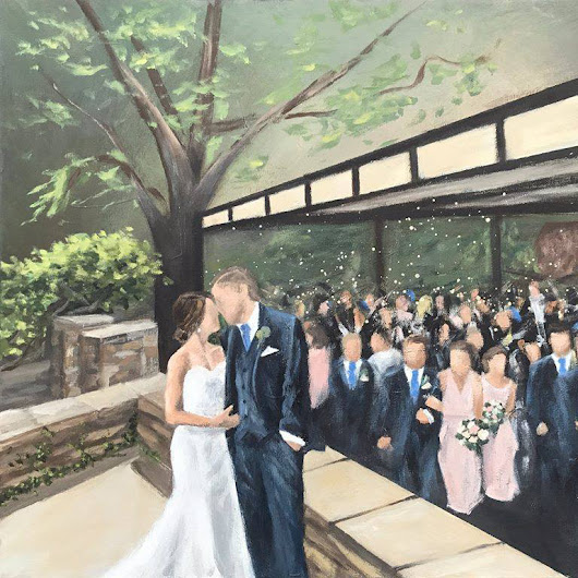 Bride Surprises Groom with Live Wedding Painting at The Club at Hillbrook!