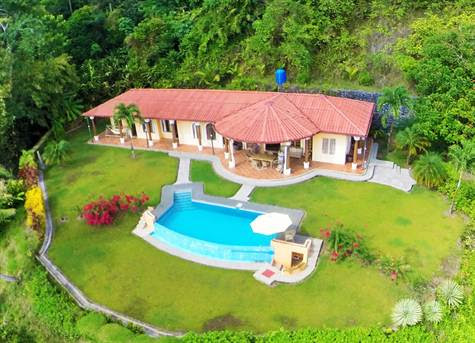 3.8 ACRES - 4 Bedroom Ocean View Home With Pool, Good Access, Very Private!! - Costa Rica Real Estate