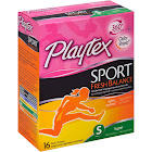 Playtex Sport Fresh Balance Tampons, Plastic, Super Absorbency, Lightly Scented - 16 tampons
