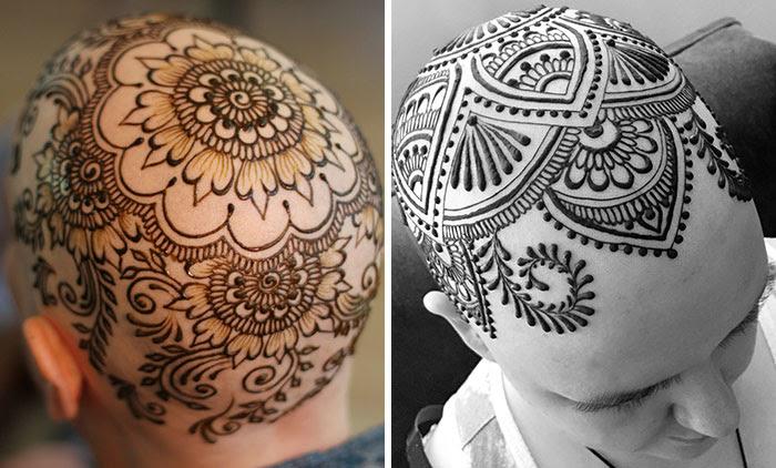 Artista que perdeu seu padrasto To Cancer está agora fazendo coroas grátis Henna aos Pacientes com Câncer