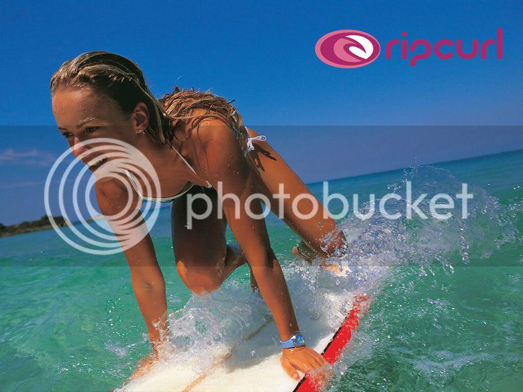 surf chick Wallpaper