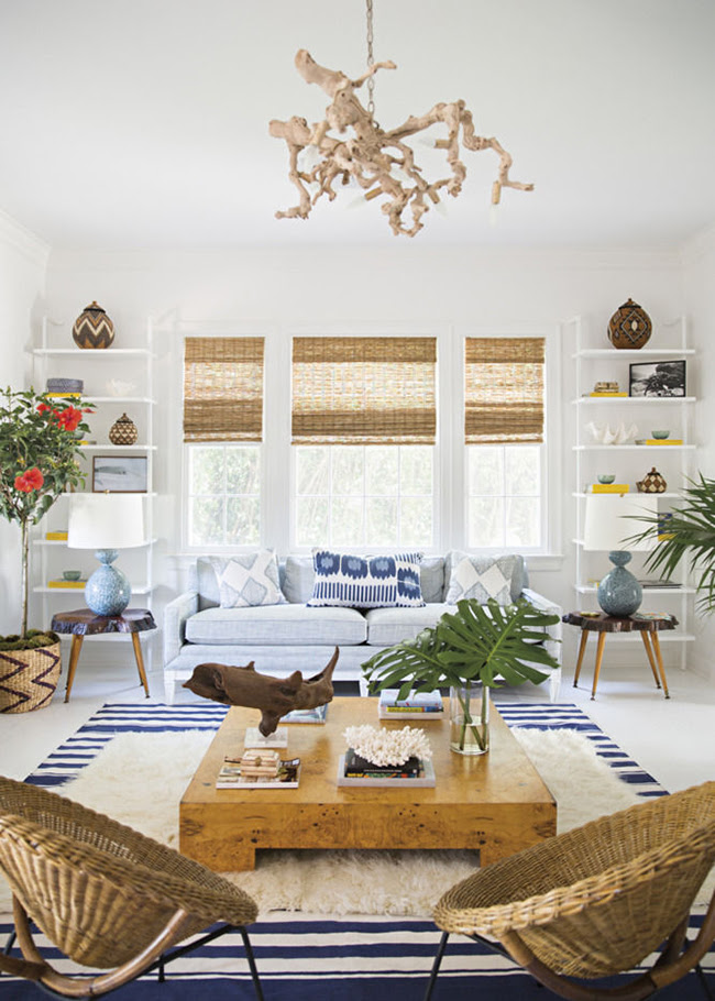 Beach House Season: A Colorful Palm Beach Bungalow designed by Anna Burke • on @SavvyHome