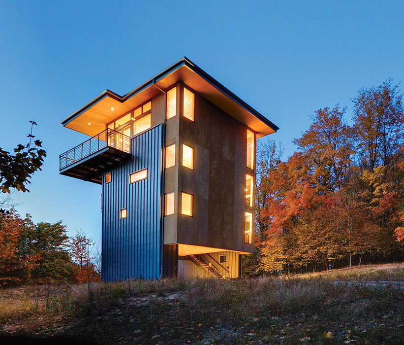 Modern Tower in Michigan | Dwell