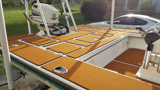 A testimonial for our boat deck mat from FL USA