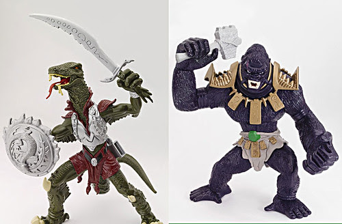 Playmates TMNT :: ' GLOBAL MUTANTS ' Komodo Dragon & Gorilla MUTANTS { NAMES PENDING }  [[ Playmates TMNT Site  ]]