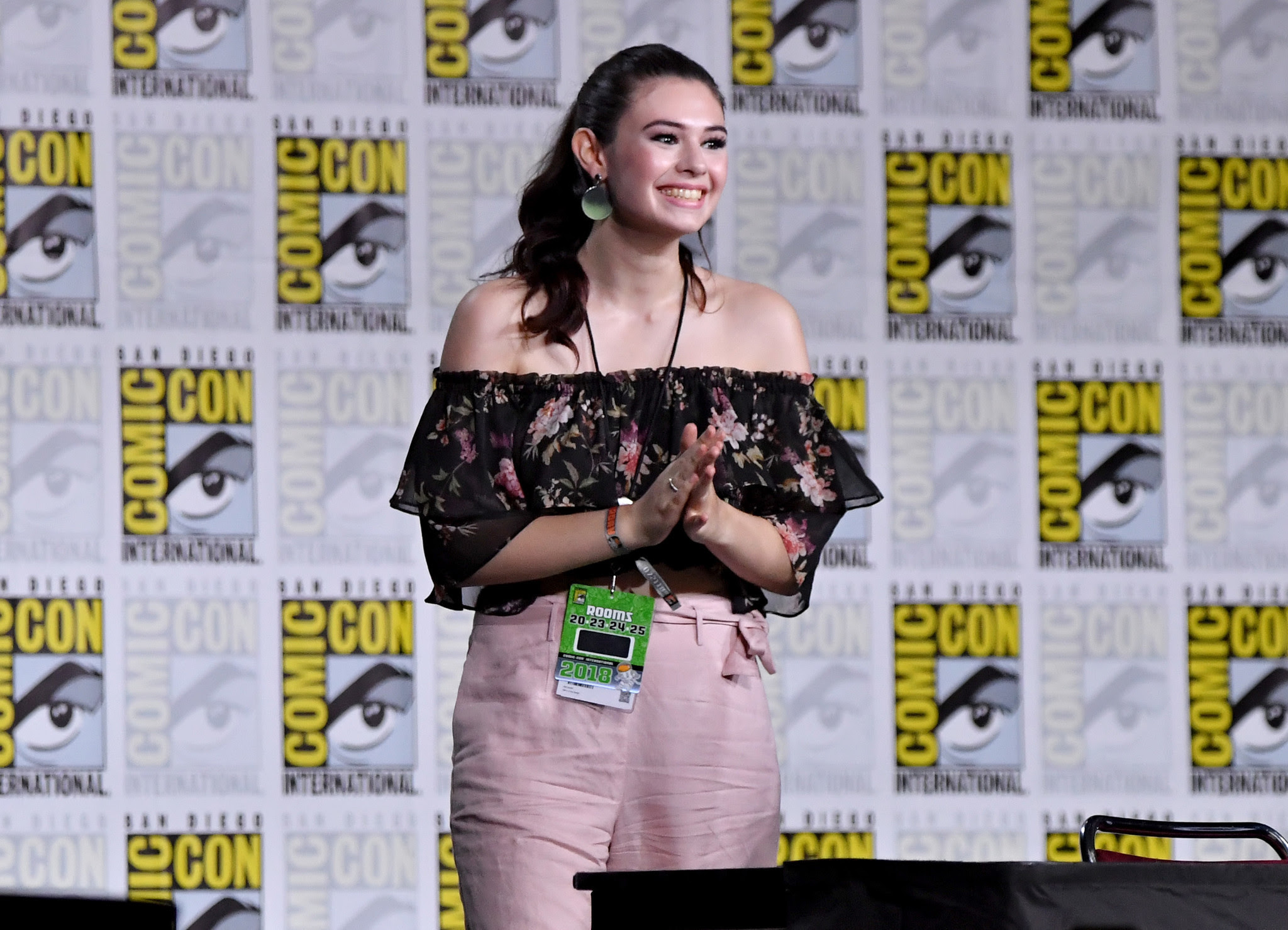 Image result for Nicole Maines supergirl comic con