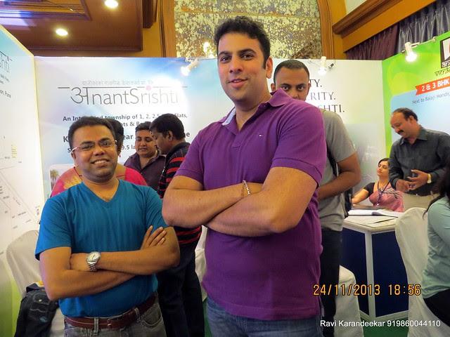 Amol Tavildar & Saurabh Gadgil of Dajikaka Gadgil Developers Pvt Ltd - www.dgdl.in -  Pune Property Exhibition, Times Property Expo 'Investment Festival 2013', 23rd & 24th November 2013