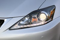 2011 Lexus IS 250 AWD headlight