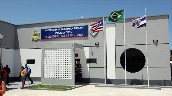 Fachada do Complexo de Policial Regional de Tutóia