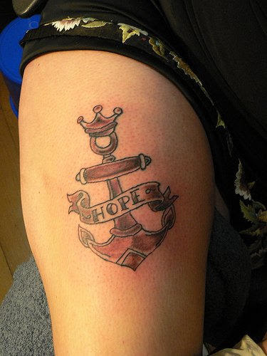 Anchor Tattoo On Shoulder