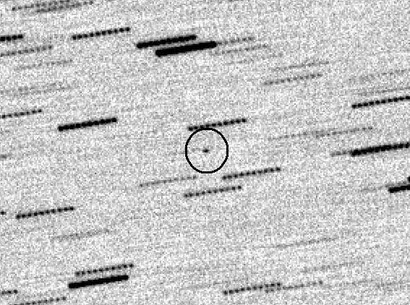 A mystery object from space, as seen from the Skylive-Grove Creek Observatory