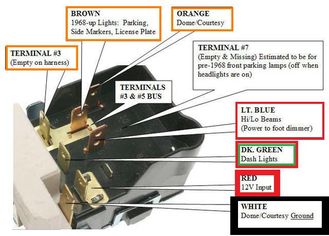 Foot Operated Dimmer Switch Wiring Diagram Headlight ...