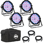 AMERICAN DJ Mega Flat Pak Plus LED RGB UV Mega Par Profile System Kit Set by VM Express