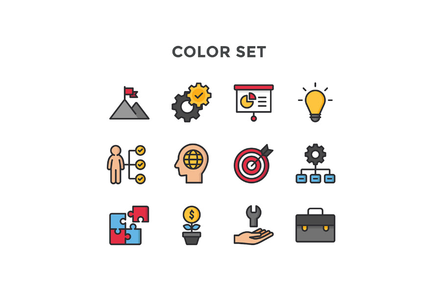 Free Vector Business Icon Pack