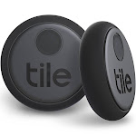 Tile Sticker 2pk, Black, Trackers and Beacons