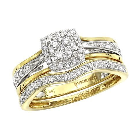 Affordable Luxurman Diamond Engagement Ring Set Wedding