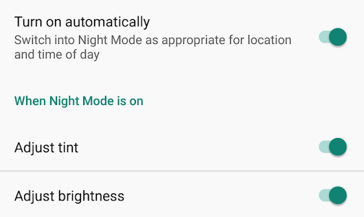 Night Mode Enabler is a simple app that brings back Night Mode and its tile to Android Nougat
