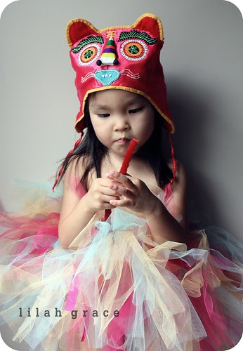 chinese tiger hat and tutu