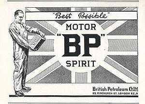 BP British Petroleum Co., Ltd., 1922 Union Jac...