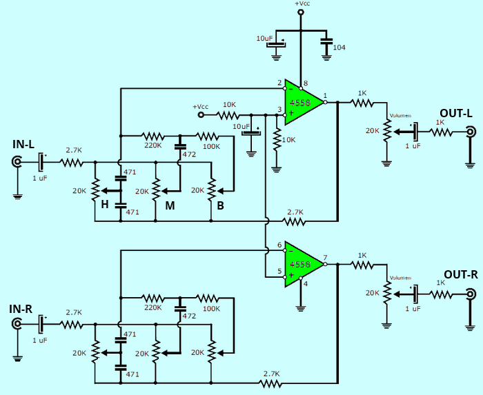12v preamp circuit daigram