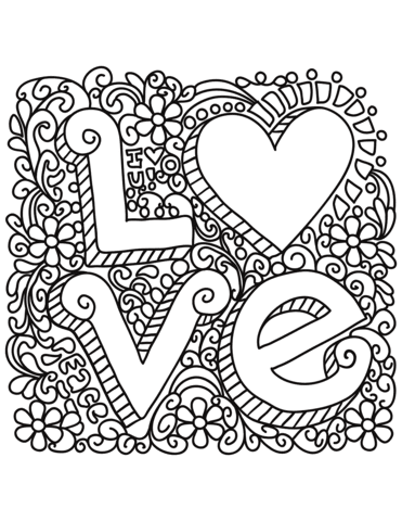 Ideas For Love Coloring Pages Printable Anyoneforanyateam