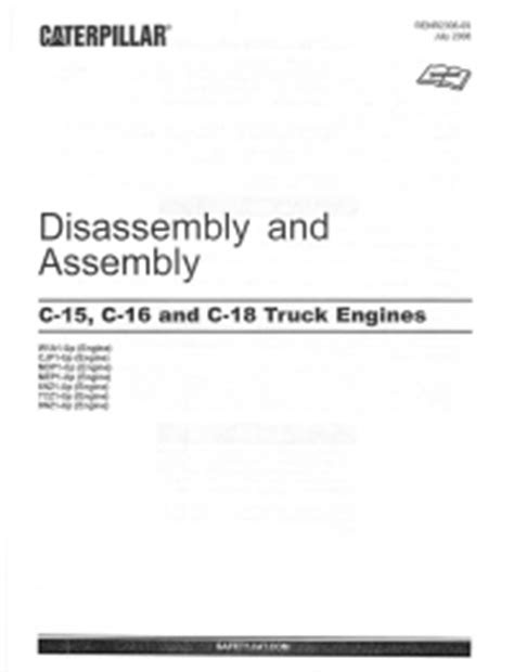 CAT C-15/16/18 Truck Engines Disassembly and Assembly