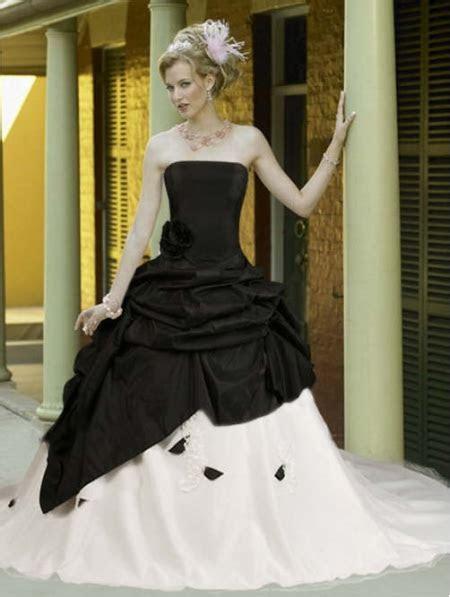 Black and White Taffeta Simple Elegant Gothic Wedding