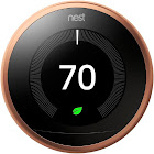 """Nest Learning 3rd generation Automatic Thermostat 2.08"""" - with LCD Display - Wi-Fi/Bluetooth 4.0 LE/802.15.4 - Android/iOS - Copper"""