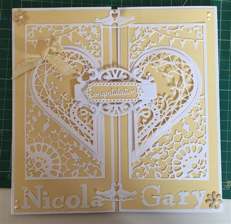 Adoring collection wedding card create and craft couture