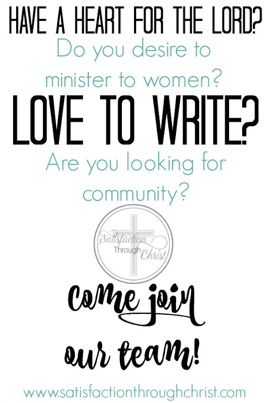 We're Looking for New Contributors! | Satisfaction Through Christ
