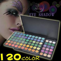 Profissional Make up -  Paleta de sombras com 120 cores