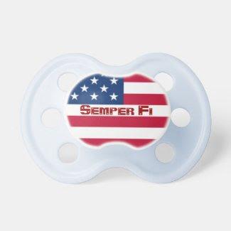 Semper Fi American Flag Pacifier