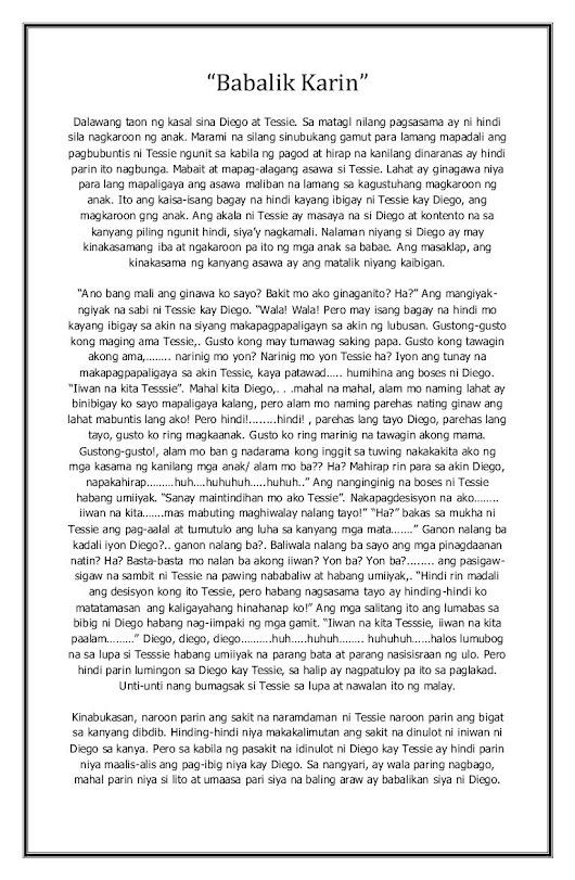 halimbawa ng maiikling kwento Sumakay ako sa likod ng kabayo pero wala doon ang bagong kaibigan binuksan ko ang binatana at nakita ko ang aming hardin ang blog na ito ay maglalaman ng mga halimbawa ng maikling kwento ito ay koleksyon ng mga kwento mula sa internet at sa mga aklat pilipino.
