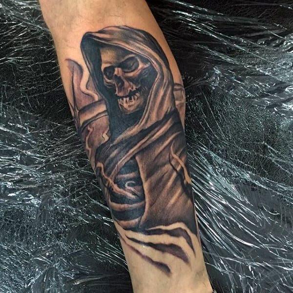80 Shin Tattoos For Men Masculine Lower Leg Design Ideas