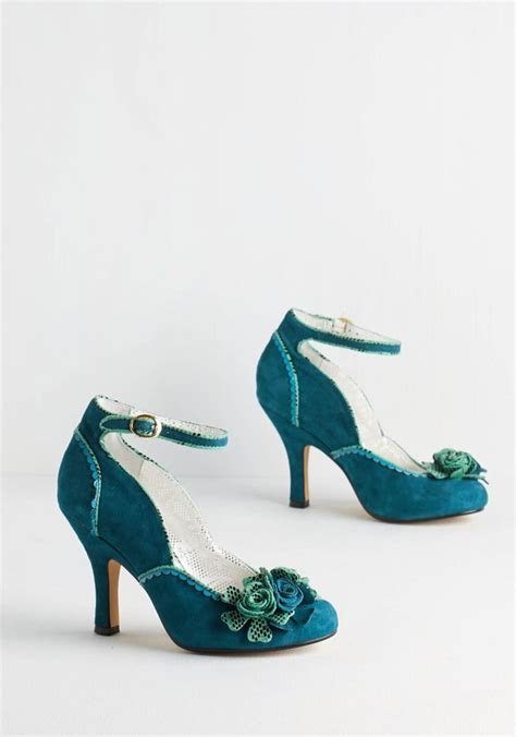 Teal Heels For Wedding