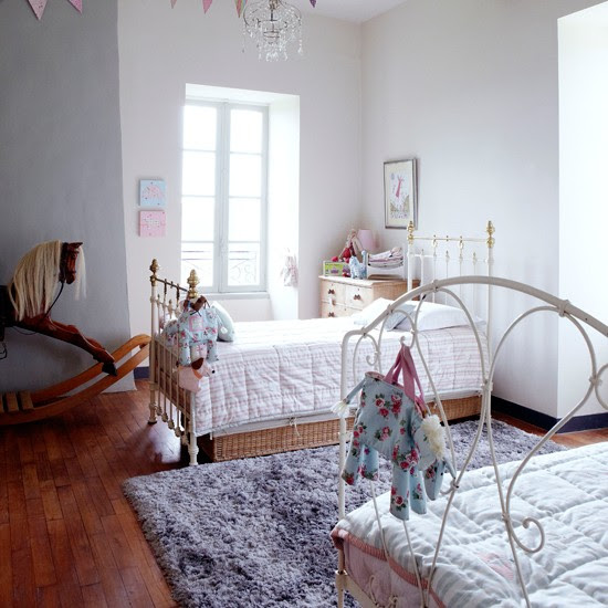 White country children's bedroom | Twin bedroom | Children's beds | Image | Housetohome