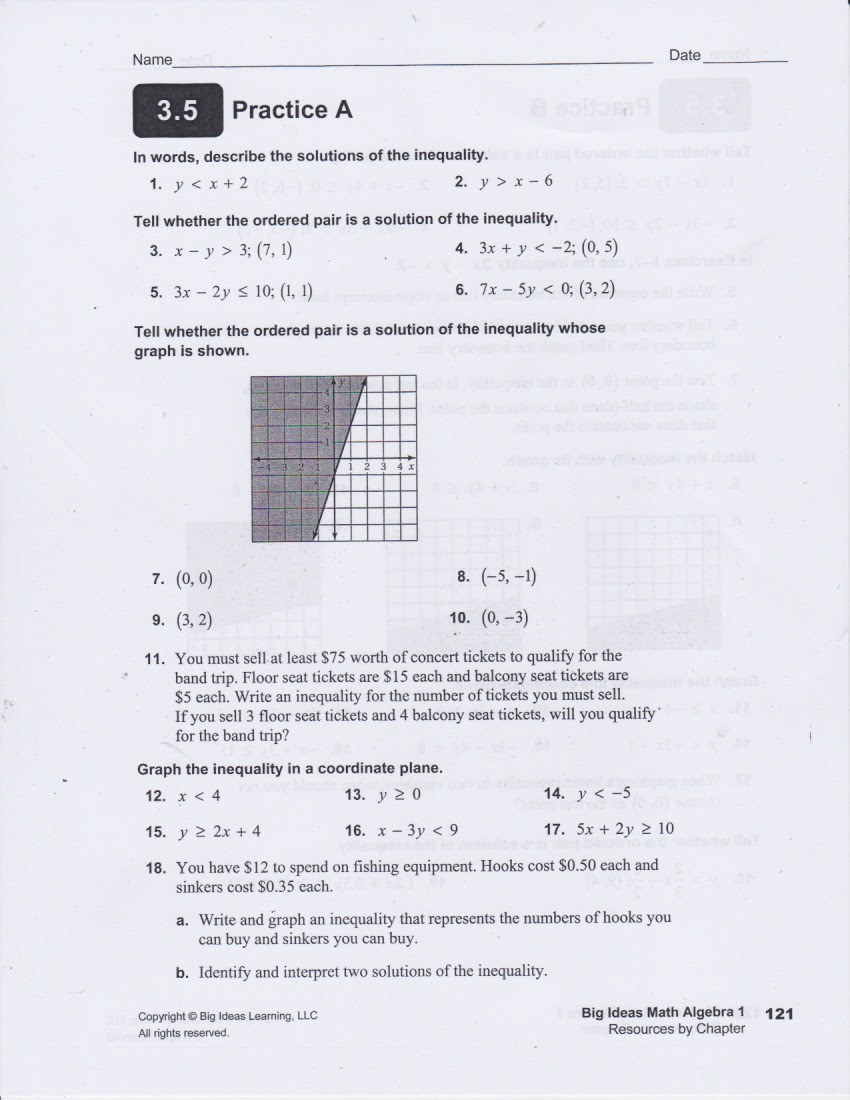 Study Solution And Tutorial 8th Grade Algebra Test [ 1100 x 850 Pixel ]
