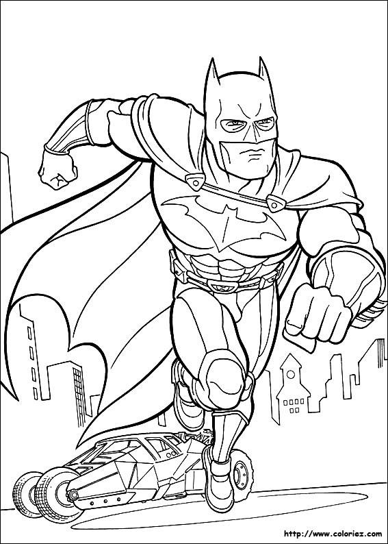 De Coloriages Coloriage Batman Voiture