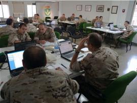 Participaron un centenar de militares de diez unidades