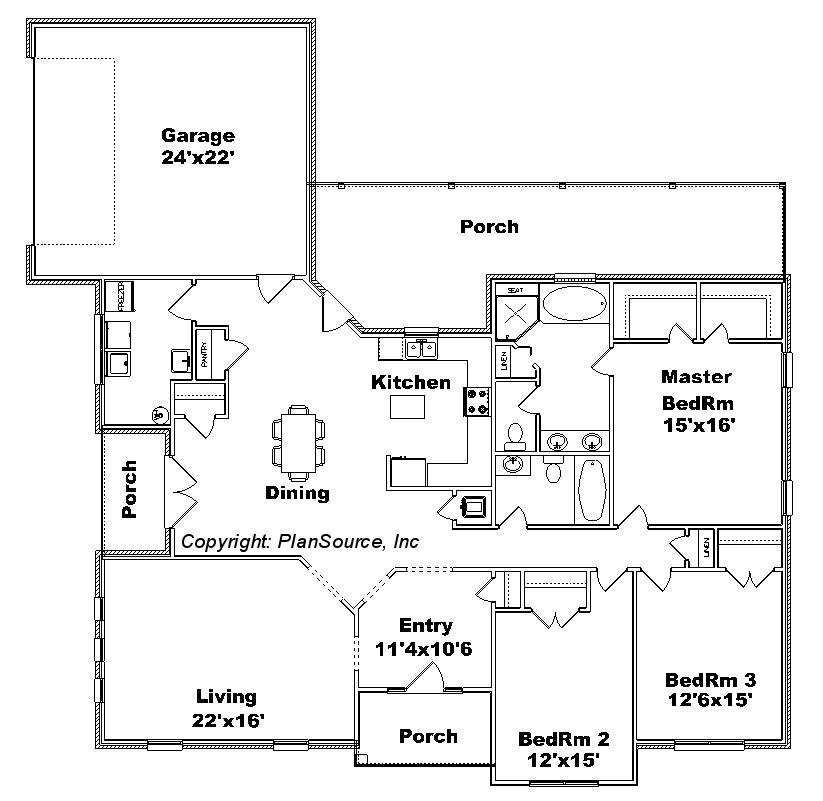 0629 12 House  plan  PlanSource Inc