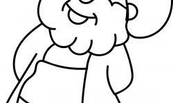 Nasreddin Hoca şaşkın Boyama Sayfası