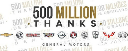 GM Thanks Customers for 500 Million Rides